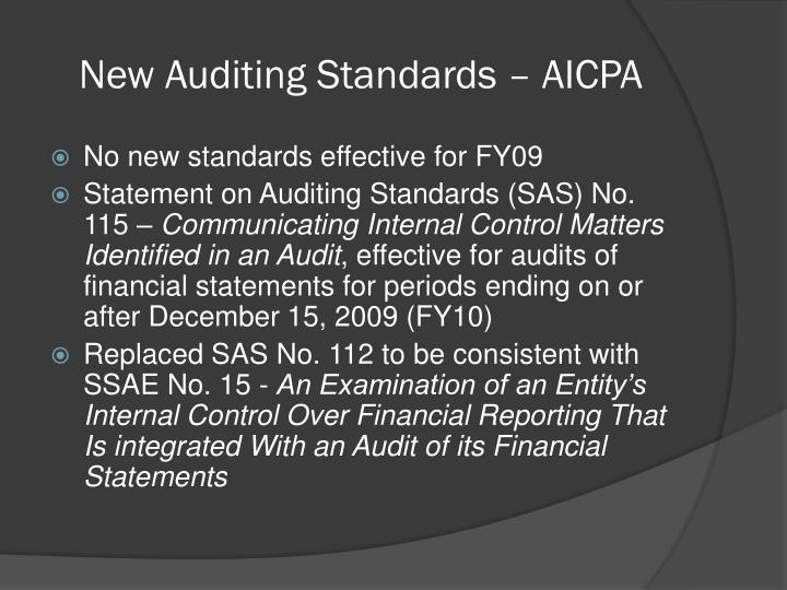 New Auditing Standards – AICPA