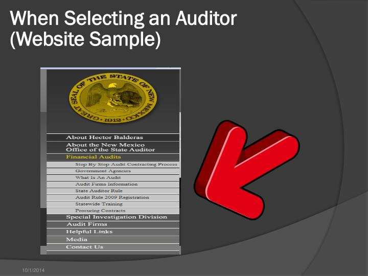 When Selecting an Auditor
