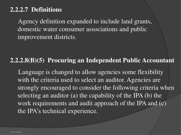 2.2.2.7  Definitions