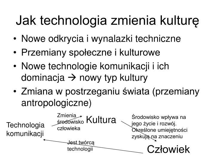 Jak technologia zmienia kulturę