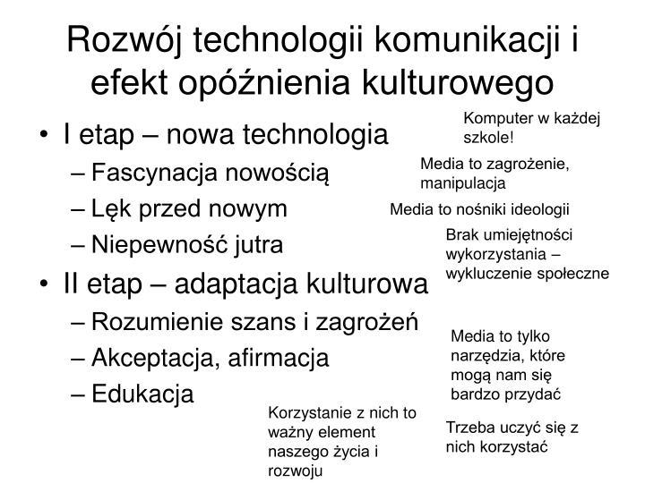 Rozwój technologii komunikacji i efekt opóźnienia kulturowego