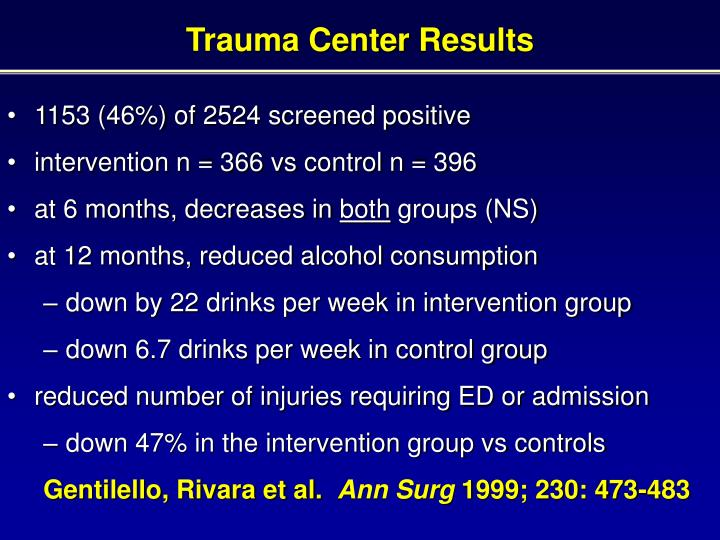 Trauma Center Results