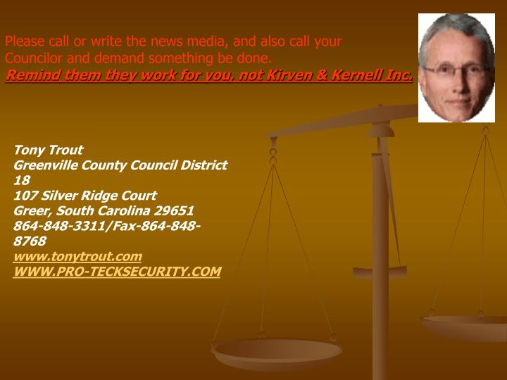 Please call or write the news media, and also call your