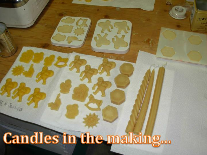 Candles in the making...