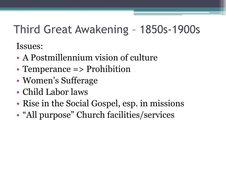 Third Great Awakening – 1850s-1900s