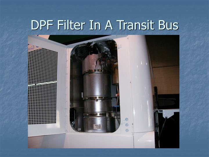DPF Filter In A Transit Bus