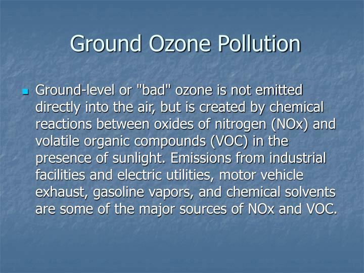 Ground Ozone Pollution