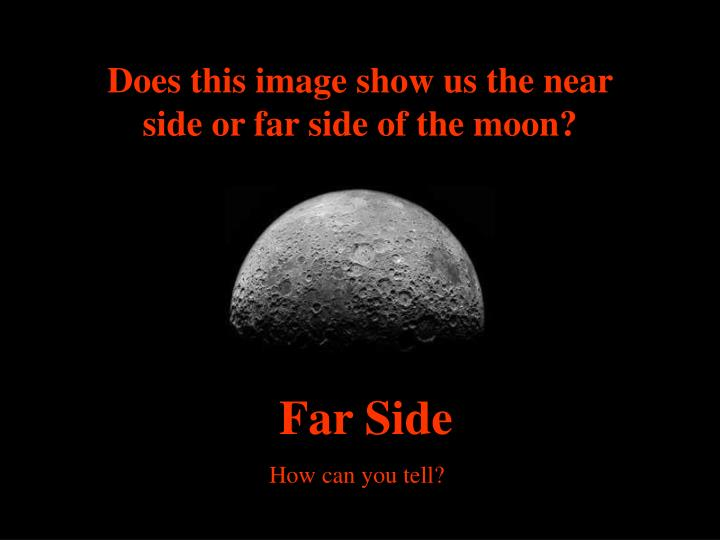 Does this image show us the near side or far side of the moon?