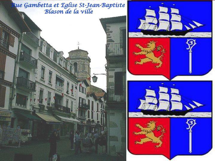 Rue Gambetta et Eglise St-Jean-Baptiste