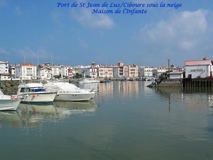 Port de St Jean de Luz/Ciboure sous la neige