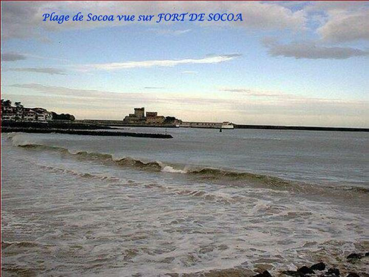 Plage de Socoa vue sur FORT DE SOCOA