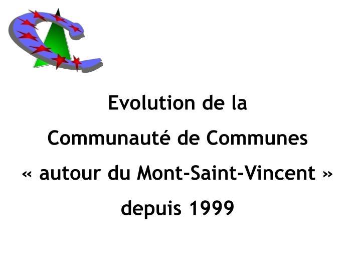 Evolution de la