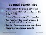 general search tips