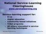 national service learning clearinghouse www servicelearning org