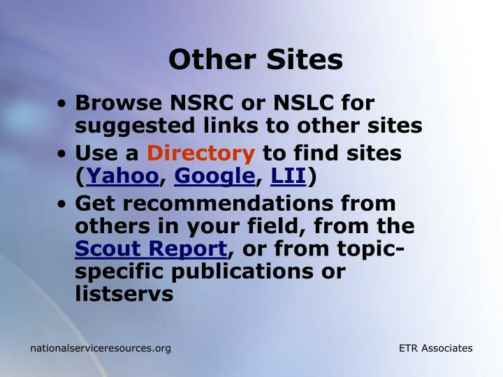Other Sites
