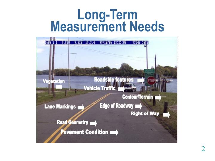 Long term measurement needs
