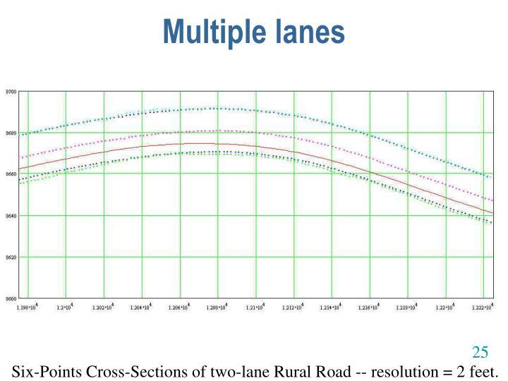 Multiple lanes