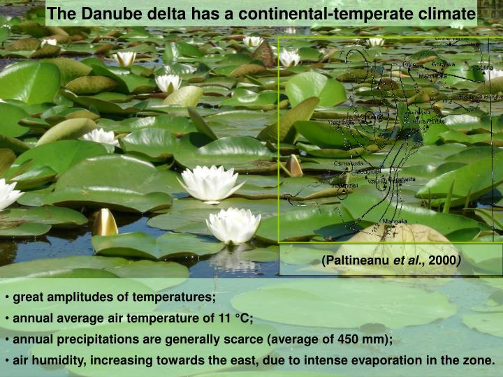 The Danube delta has a continental-temperate climate