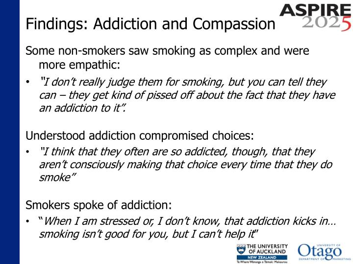 Findings: Addiction and Compassion