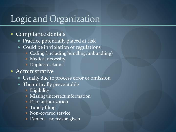 Logic and Organization