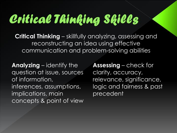 effective communication and critical thinking