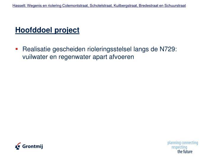Hoofddoel project