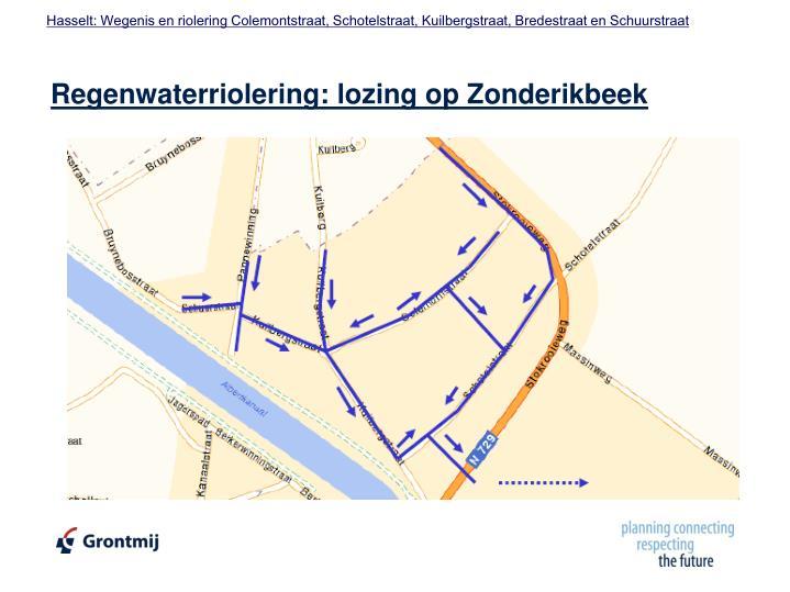 Regenwaterriolering: lozing op Zonderikbeek