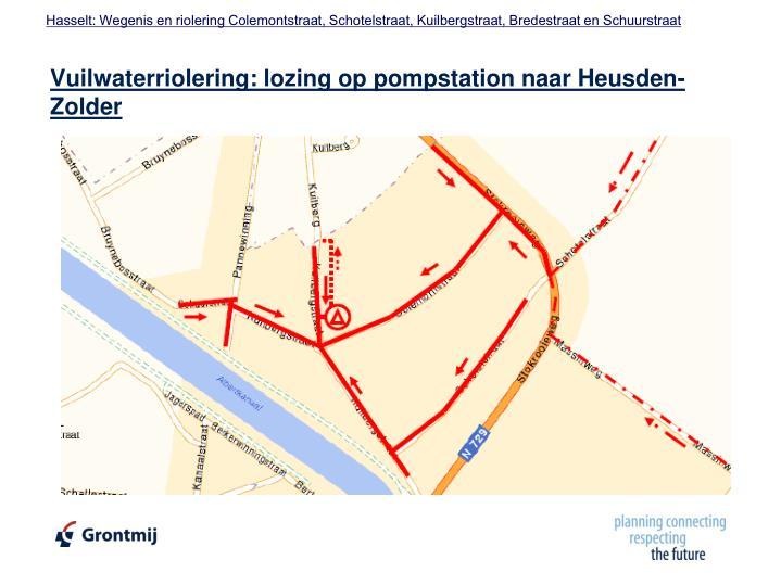 Vuilwaterriolering: lozing op pompstation naar Heusden-Zolder