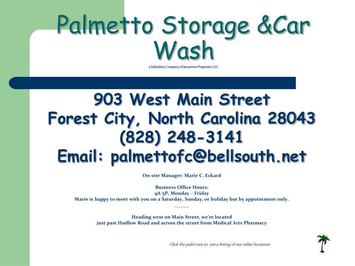 Ppt Rutherford County S 1 St Self Storage Amp Car Wash