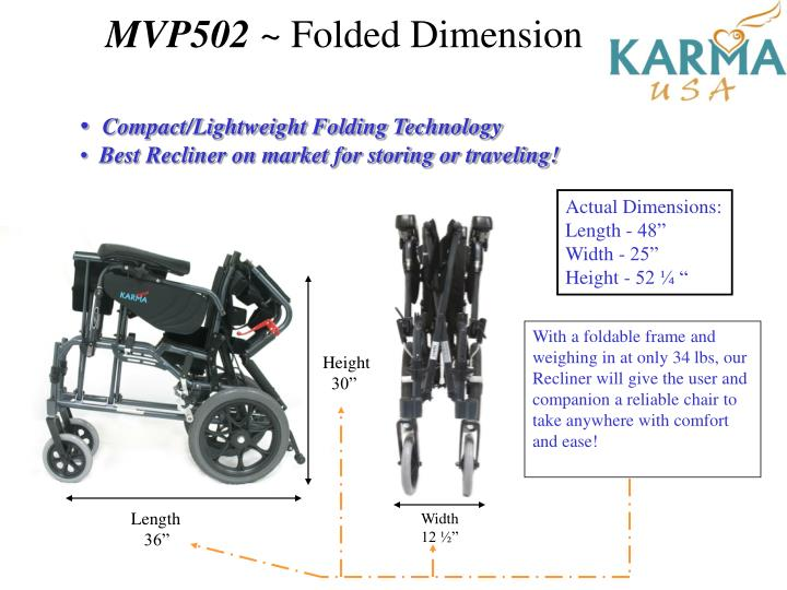 Mvp502 folded dimension