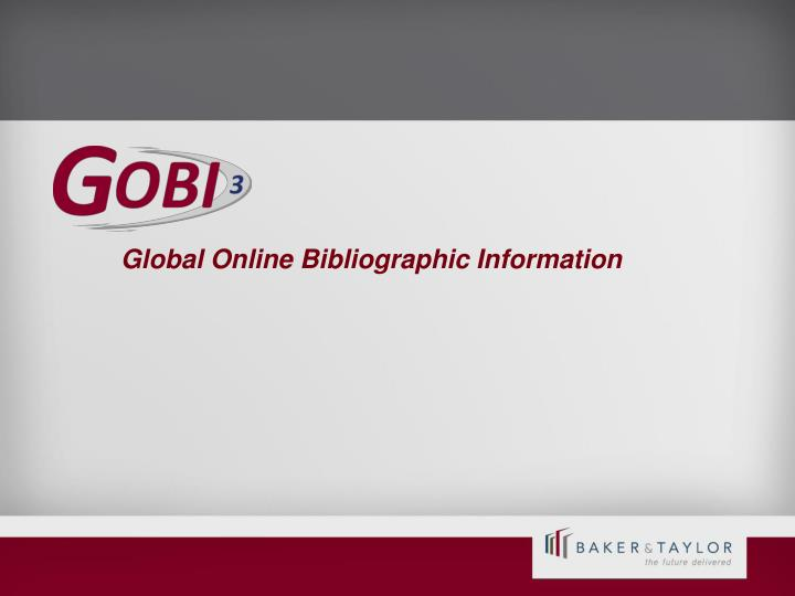 Global Online Bibliographic Information