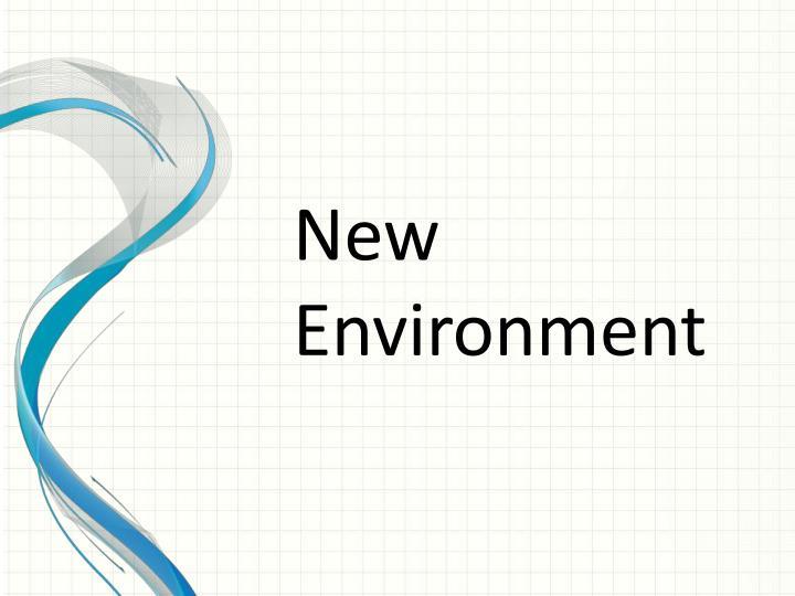 New Environment
