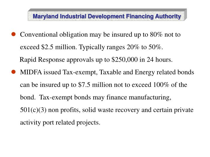 Maryland Industrial Development Financing Authority