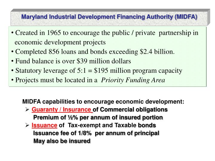 Maryland Industrial Development Financing Authority (MIDFA)