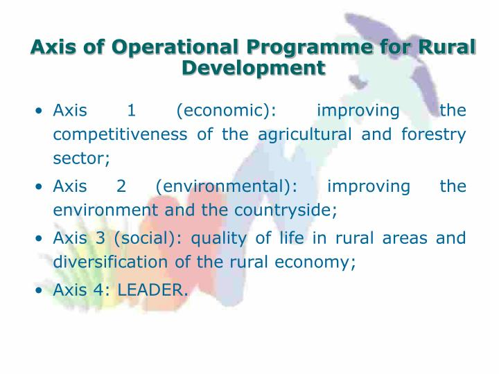 Axis of Operational Programme for Rural Development