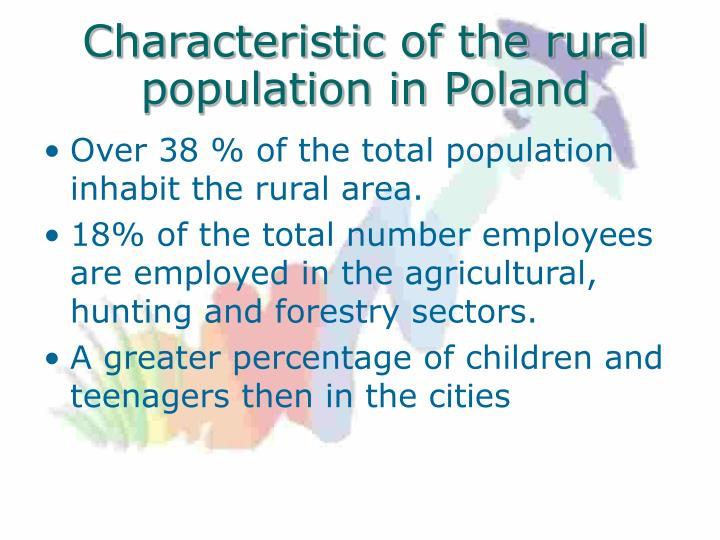 Characteristic of the rural population in Poland