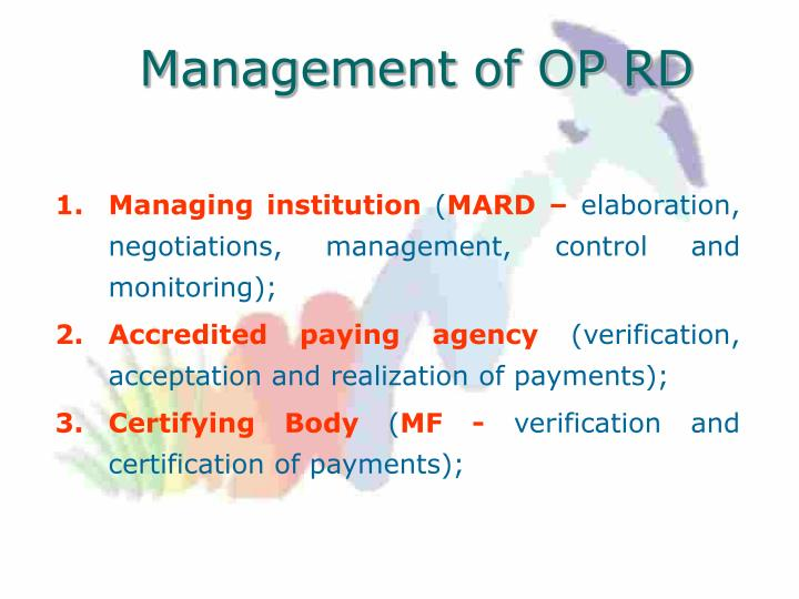 Management of OP RD