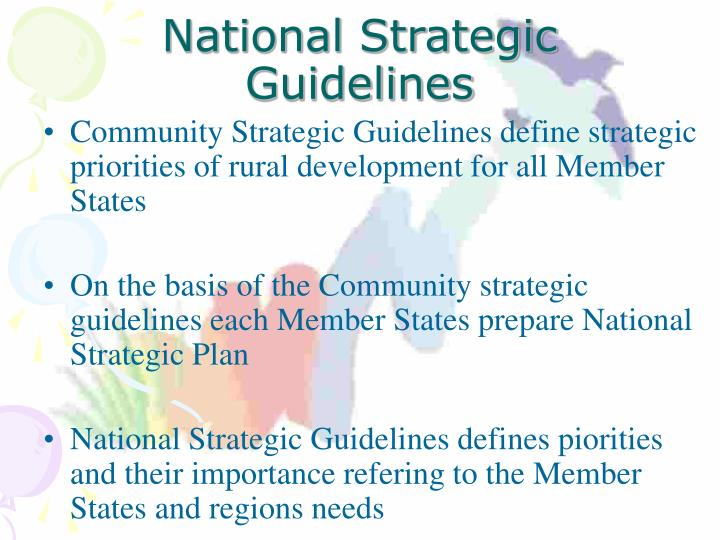 National Strategic Guidelines