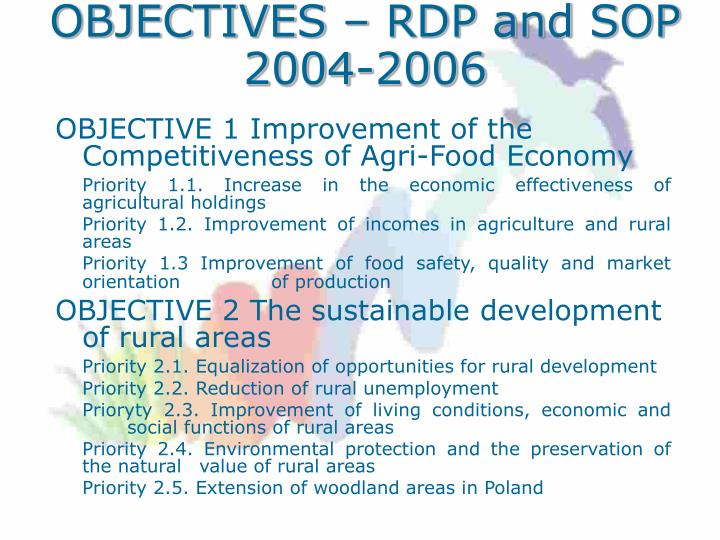 OBJECTIVES – RDP