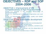 objectives rdp and sop 2004 2006