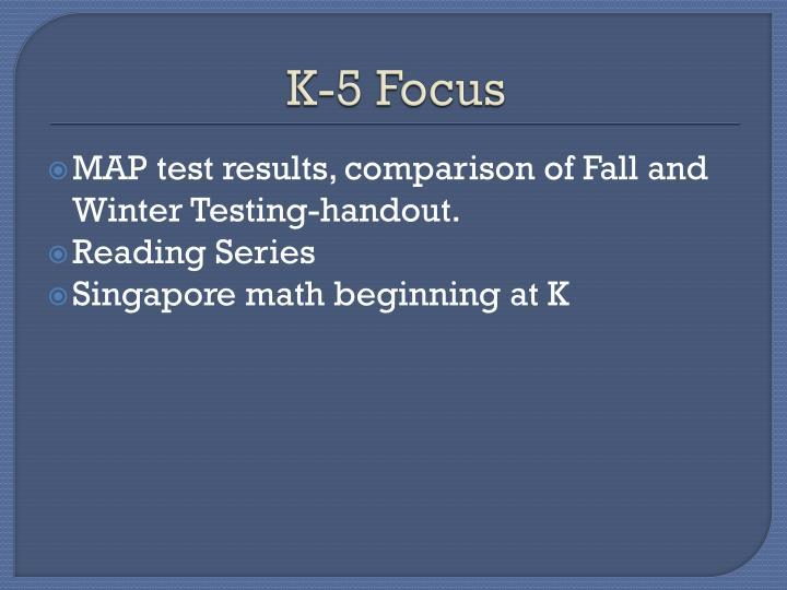 K-5 Focus