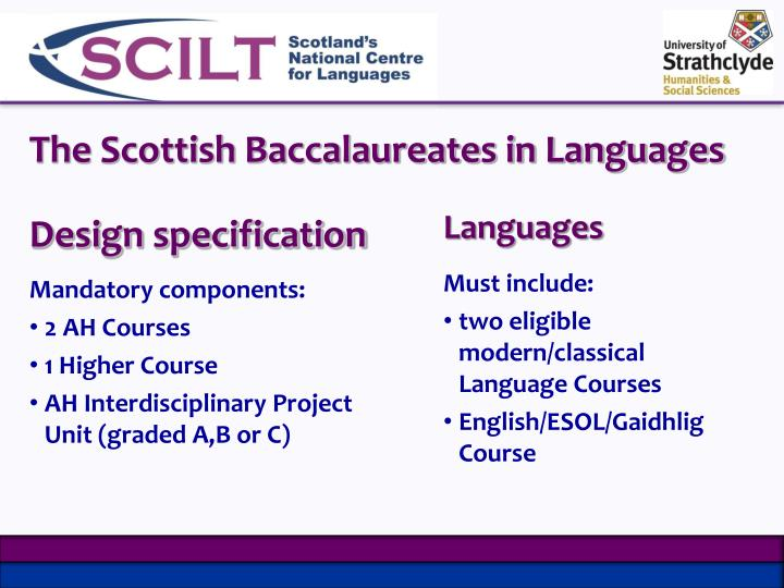 The Scottish Baccalaureates in Languages