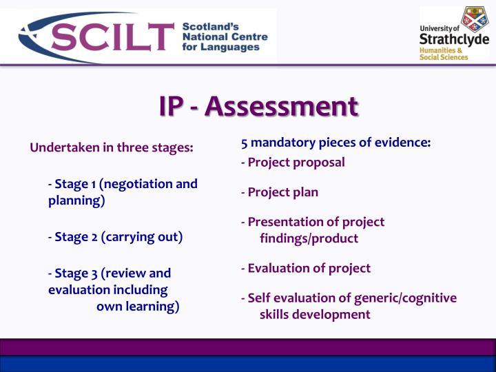 IP - Assessment