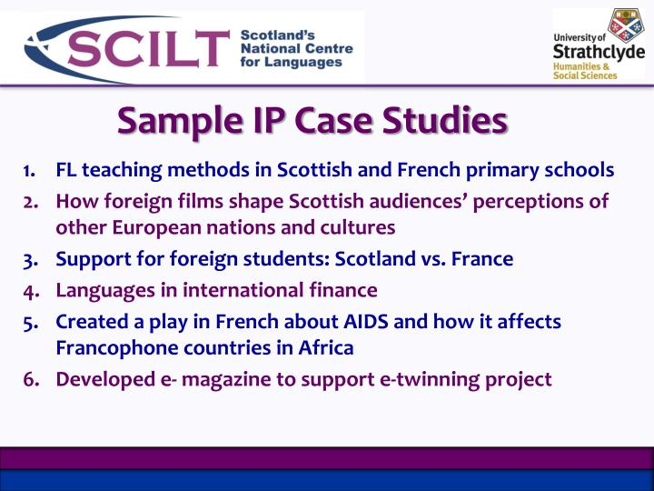Sample IP Case Studies