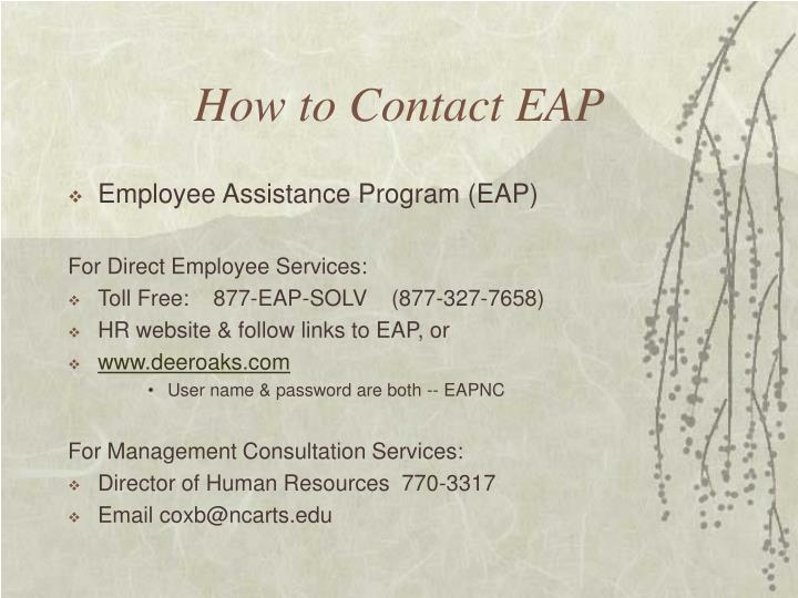 How to Contact EAP