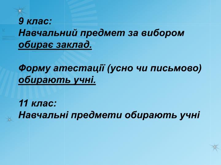 9 клас: