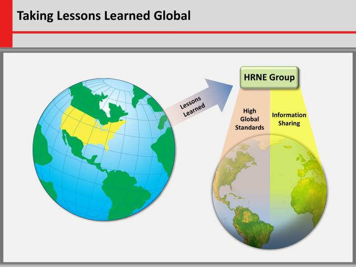 Taking Lessons Learned Global