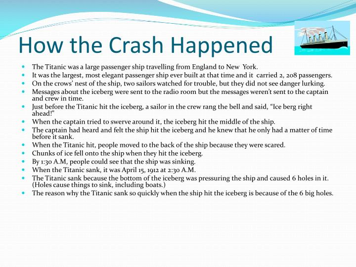 How the crash happened