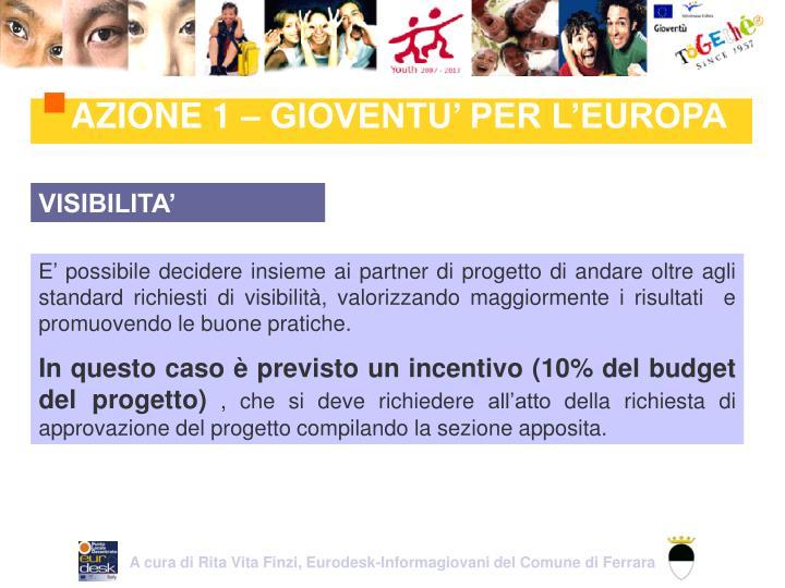 A cura di Rita Vita Finzi, Eurodesk-Informagiovani del Comune di Ferrara