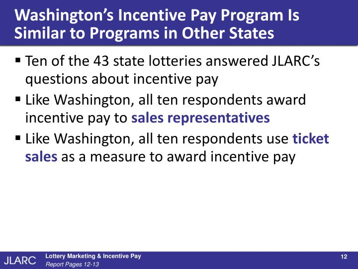 Washington's Incentive Pay Program Is Similar to Programs in Other States
